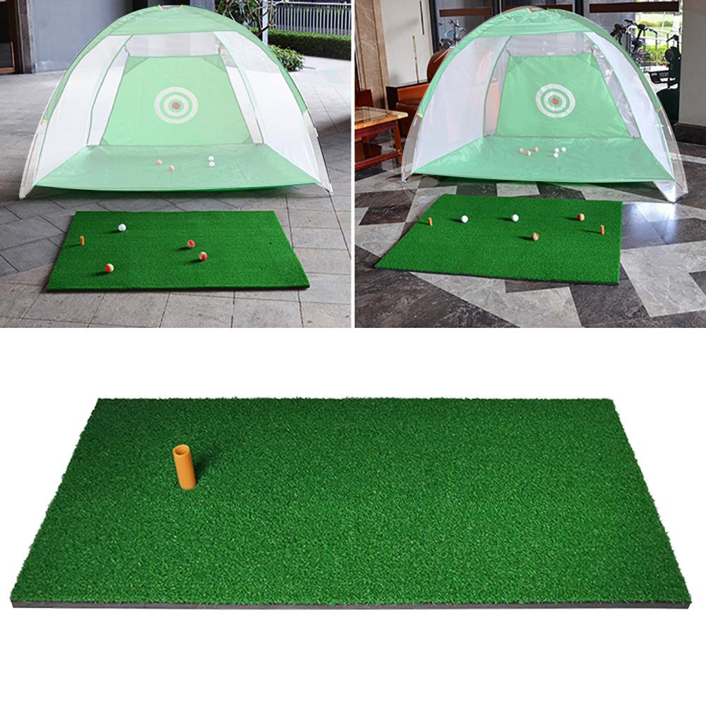 30x60cm Golf Practice Mat Cage Grass Pad Swing Golf Training Aids Outdoor/Indoor Hitting Practice Trainer Mat With Rubber Tee