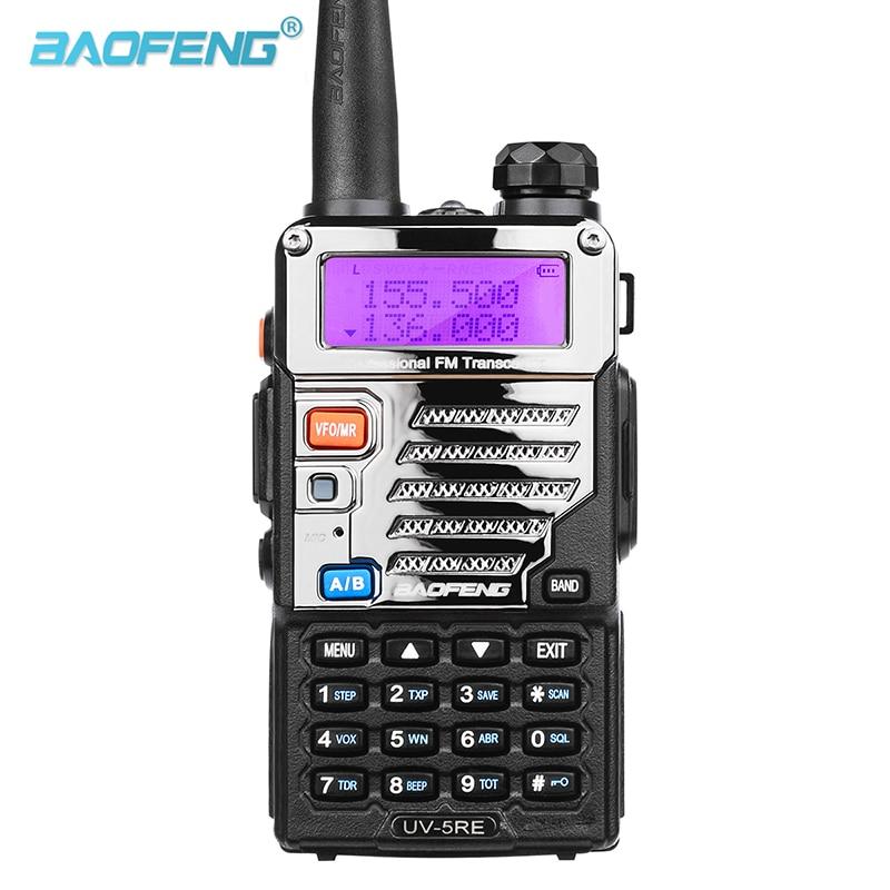 Портативная рация Baofeng, двухдиапазонный радиоприемник Pofung UV 5RE 5 Вт, 128 каналов, UHF/VHF, двойной дисплей