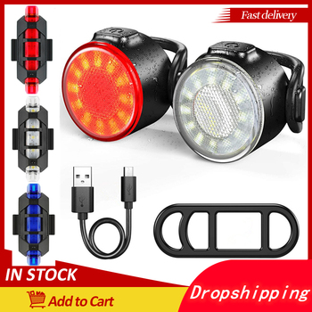 IPX6 Waterproof Taillight Bright Front or Rear Light USB Chargeable Safety Warning Bike Accessories 6 Model Mini Bicycle Lights image