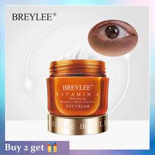 BREYLEE krem pod oczy witamina C wybielanie usuń ciemne koła znikną piegi VC ochrona oczu krem rozjaśniający skórę anti-opuchlizna 20g