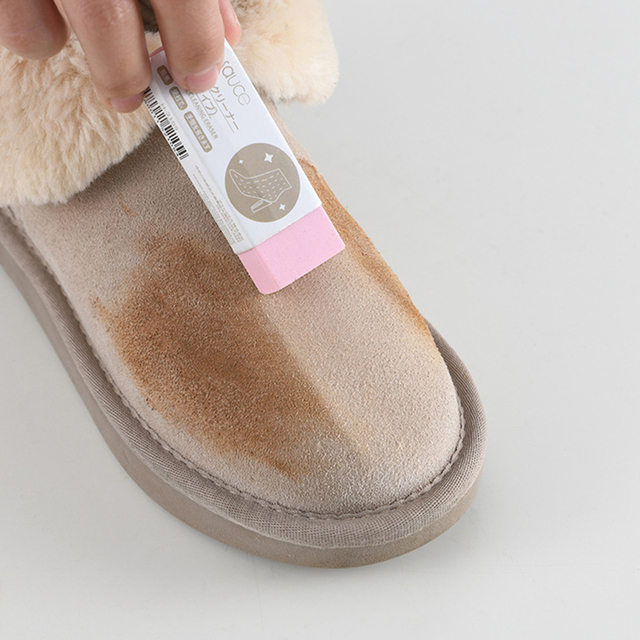memorytime Cleaning Scrubber Brush,Home Bedroom Suede Nubuck Material Shoes Boots Bags Cleaner Tool Khaki