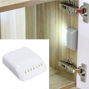 Motion Sensor Night Lamp Battery Powered Intelligent LED Night Light With Motion Sensor For Wardrobe Drawer Bedroom