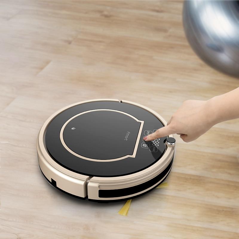 Fmart Roboter-staubsauger E200 Nassen und Trockenen Gyro Navigation Auto Aufladen Mehrere Sensoren 4 Reinigung Modi für Home Reinigung