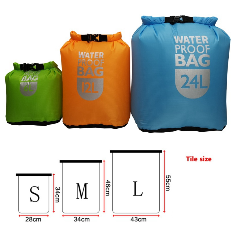 Waterproof Dry Bag Bag Sack Bag Sailing Boat Quick Dry Bag Swimming Drifting Kayaking River Walking Bag 6/12 / 24L
