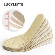 Женские и мужские стельки LUCYLEYTE, увеличивающие рост, из пены с эффектом памяти, удобные дышащие невидимые вставки, подушка для увеличения ро...