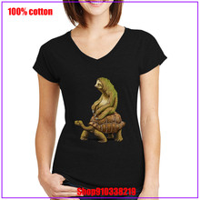 Speed is Relative Turtle and Sloth women clothes t shirt