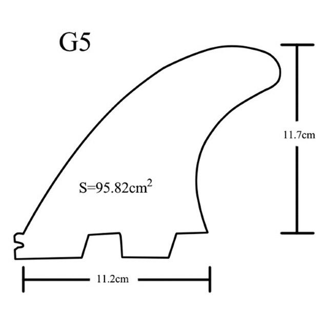 Nouvelle vente G5 aileron de surf trois pièces accessoires de planche de surf en nid dabeille gouvernail adapté à la Base de planche de surf FCS2