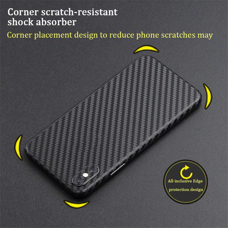 Ультратонкая защитная пленка из углеродного волокна для iPhone X, XS, XR, XS, Max, Защитная пленка для iPhone 6, 6S Plus, 7, 8, наклейка s