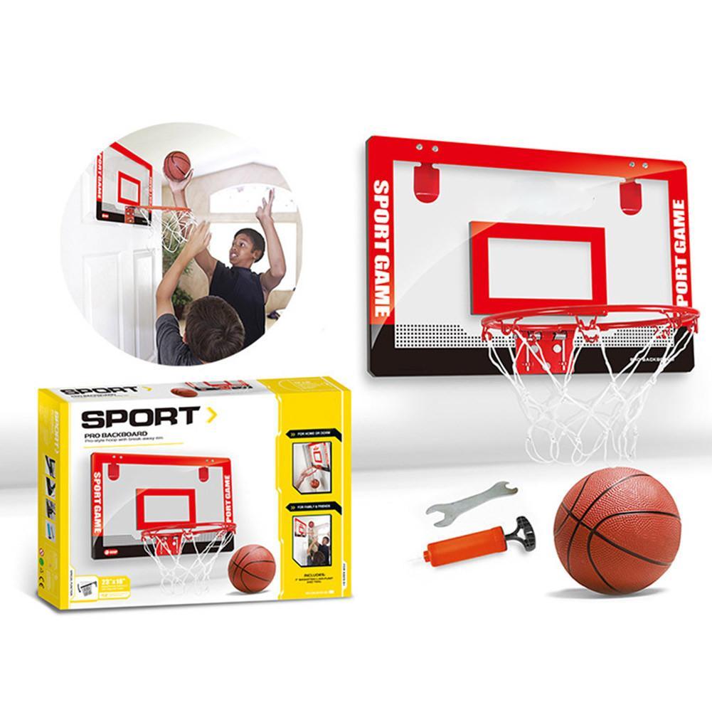 Мини-баскетбольное кольцо комплект с прозрачная подвесная Дверь Задняя панель домашние тапочки спортивное оборудование для грунта спальн...