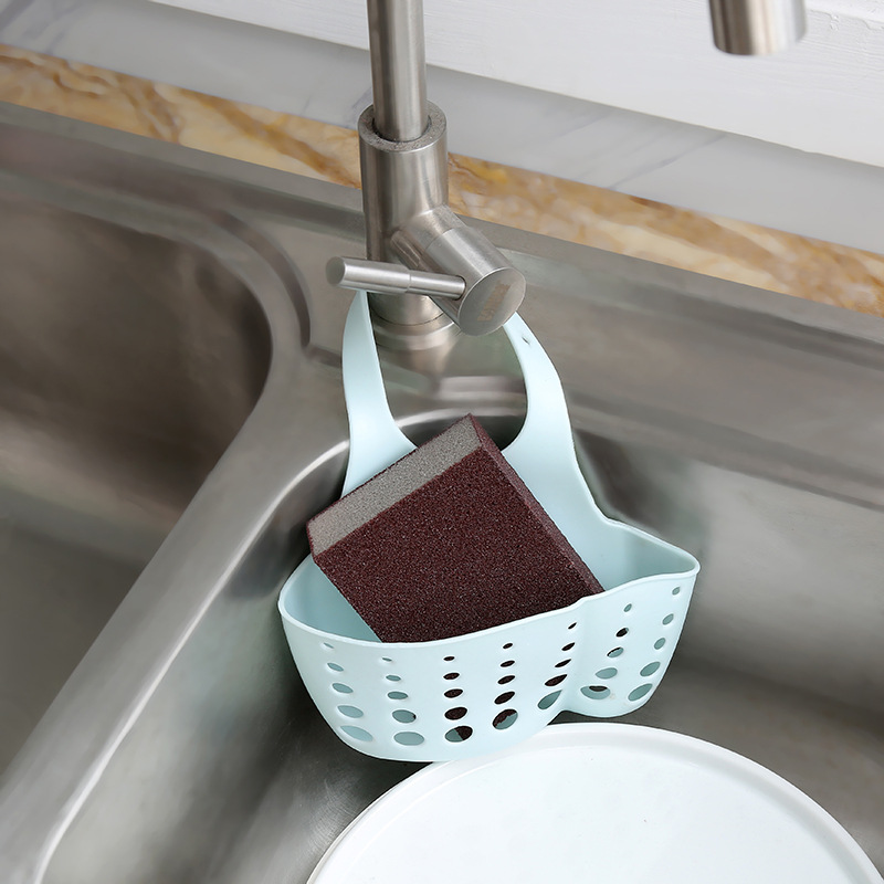 Useful Suction Cup Kitchen Sponge Drain Holder PP rubber Toilet Soap Shelf Organizer Sponge Storage Rack Basket Wash Cloth Tools 1