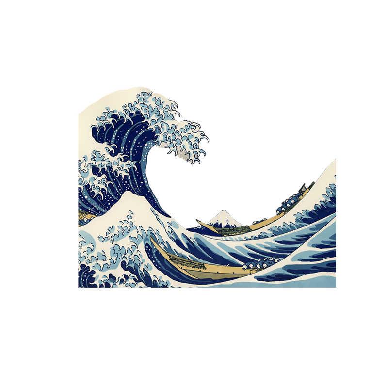 Kanagawa Surf Kleidung Wärme presse Transfers Aufkleber Eisen-auf Flecken DIY handwerk liefert Dekoration Appliques für T-shirts E0639