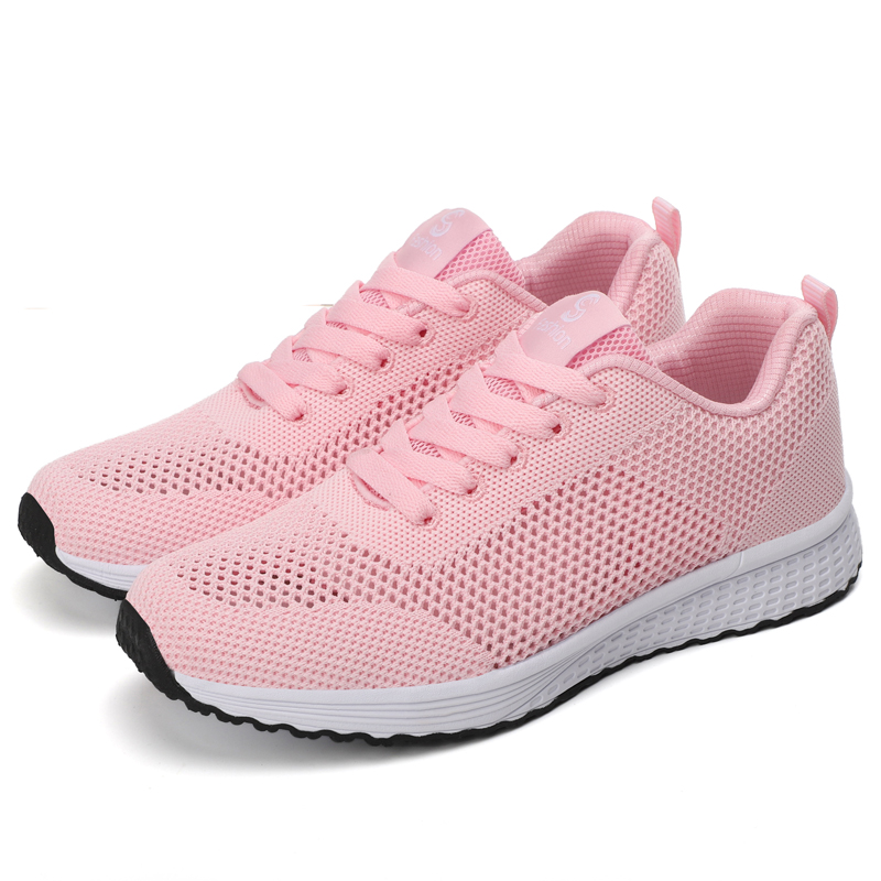 Hot Sale Women Sneakers Fashion Lightweight Comfortable Mesh Flat Shoes Spring Autumn Lace-up Female Vulcanize Shoes Zapatillas