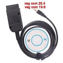 Vag com 20.4 interface hex v2 vagcom 19.6 ferramenta de diagnóstico para vw audi skoda assento multi-linguagem atmega162 + 16v8 + ft232rq