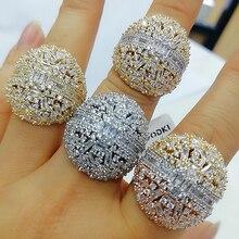 Godki bold baguette corte anéis de noivado feito à mão zircônia cúbica anéis para as mulheres moda dedo acessórios casamento banda