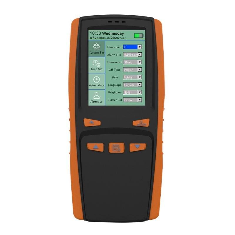 Handheld Portable Ozone Analyzer O3 Ozone Meter Gas Detector Intelligent Sensor Ozone Meter for Air Quality Pollution Monitor