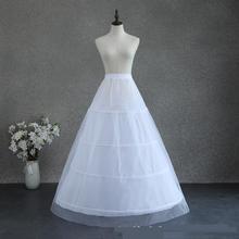 2021 nova ezkuntza grande 4 anéis branco petticoat para o vestido de casamento pode ser ajustável faixa elástica rendas até petticoat para mulher