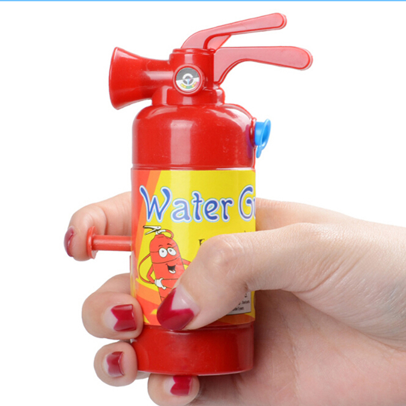 11 Cm Simulation Fire Extinguisher Toy Plastic Water Gun Mini Spray Style Exercise Toys Gift Bathtub Bomberos Beach Squirt Toy