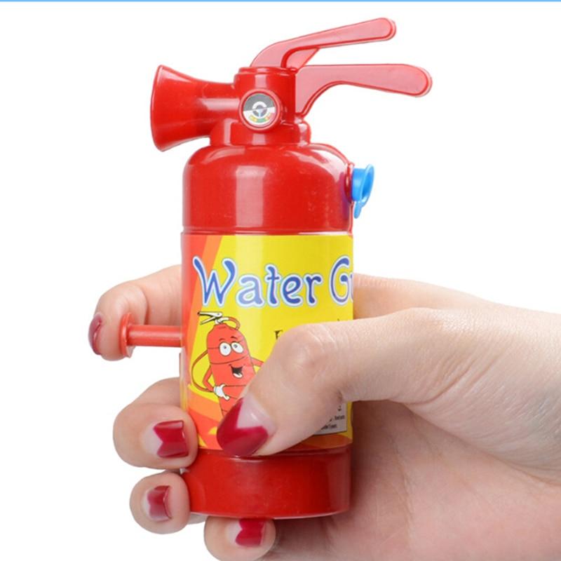 11 Cm Simulation Fire Extinguisher Toy Plastic Water Gun Mini Spray Style Exercise Toys Gift Bathtub Bomberos Beach Squirt Toy
