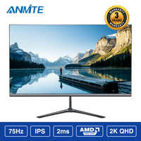 Anmite 24 Inch 2K 2560*1440 QHD Slim Ps4 LCD Computer Game Monitor Athlete Chicken Ips Screen
