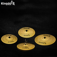 Kingdo alloy high quality low volume cymbals set