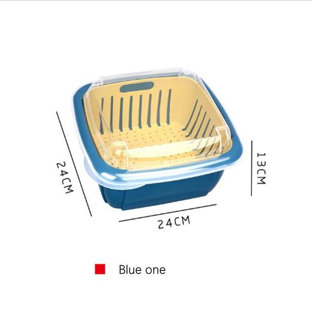 Фото трехкомпонентная двойная сливная корзина кухонное сито для мытья