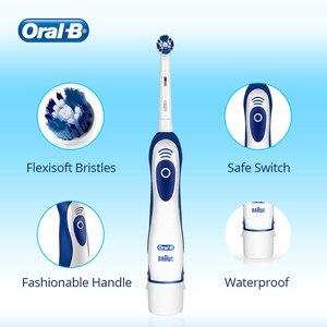 Image 3 - فرشاة الأسنان الكهربائية عن طريق الفم B 7600s الدورية الدقة تنظيف نوع البطارية فرشاة أسنان سونيك للبالغين مع حقيبة السفر