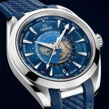 Omega- Luxury Brand Ceramic Bezel Mens AAA Mechanical SS 007 Automatic Movement Men Watch Designer Watches Wristwatches 611