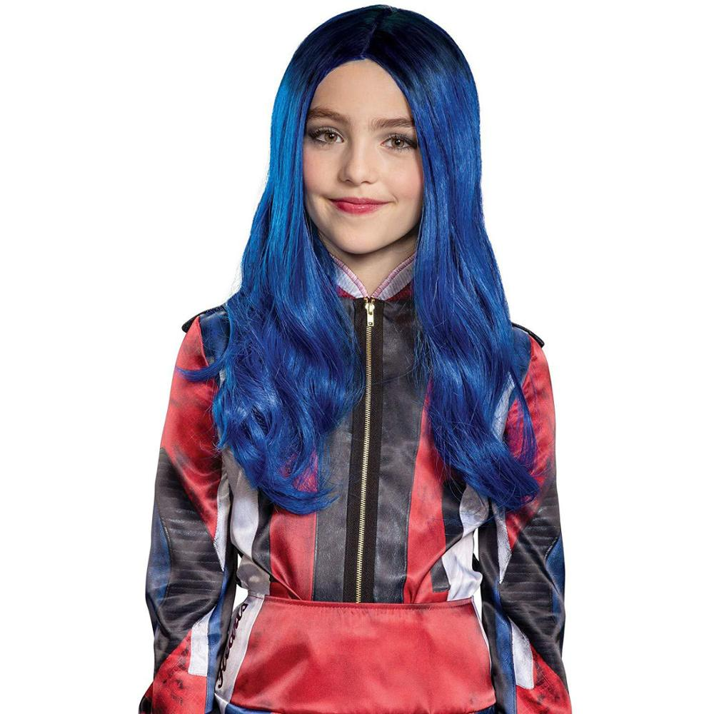 Children Descendants 3: Good To Be Bad Cosplay Costume Props Wigs For Gilrs Kids