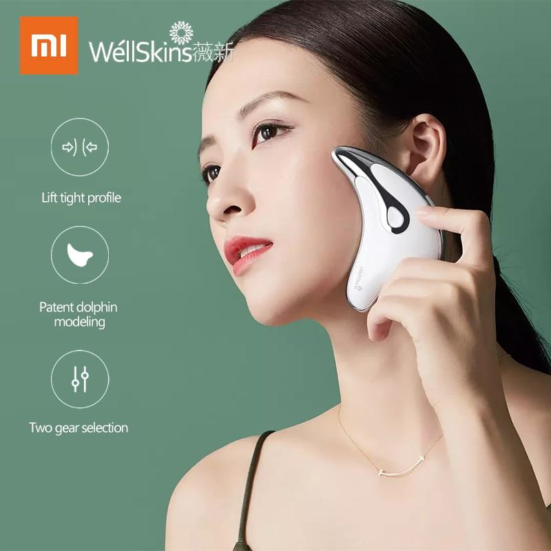 WellSkins микро токовый Интеллектуальный подтягивающий массажный инструмент BJ808 подтягивающий контур лица|Устройство для ухода за кожей лица| | АлиЭкспресс