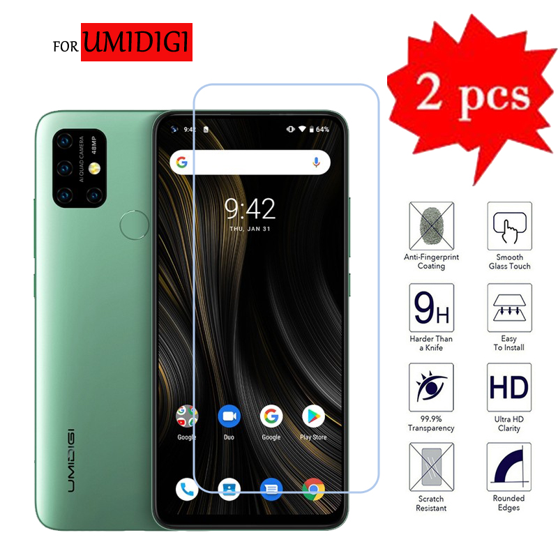 2Pcs Premium Tempered Glass For UMIDIGI Power 3 Screen Protector Glass For UMIDIGI X UMI Power Phone Protection Film Cover Glass