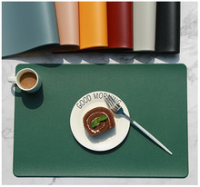 Artificial leather placemats, non-slip placemats, bowls, coasters, waterproof table mats, heat-insulated table mats недорого