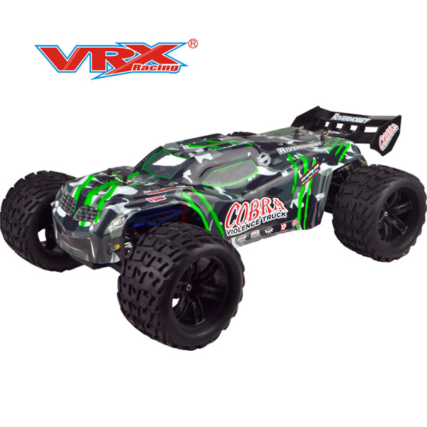 VRX Racing RH818 3650 Monster Truck Brushless Motor 2.4G 4WD 60- 80km/h High Speed RC Car With 60A ESC FS Transmitter - RTR