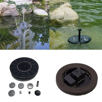 Solar Powered Water Pump Garden Fountain Floating Panel Watering Pond Kit for Waterfalls Water Display 7v solar powered fountain water pump connect tube with nozzles solar birdbath fountain pump for garden waterfalls pond fish tank
