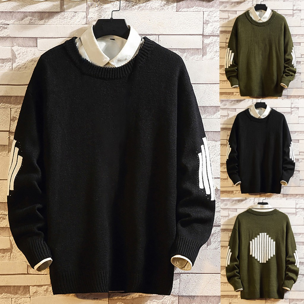 Men's Casual Pullover O-Neck Long Sleeve Knitted Sweater Tops M-5XL Plus Size Autumn Winter Pull Homme Hombre Sueter Hombre