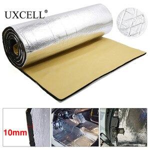Image 1 - UXCELL 10mm kalınlığında alüminyum Fiber susturucu pamuk araba oto Fender ısı ses yalıtımı yalıtım matı