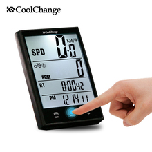 CoolChange Bicycle Computer Waterproof Large Screen Cycling Odometer Wireless and Wired Stopwatch MTB Bike Speedometer