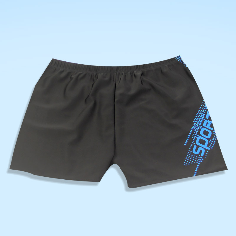 New Style Fashion Men-Style Quick-Dry Swimming Trunks Students Teenager Conservative Boxer Sports Swimwear
