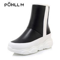 Snow boots 34 46 yards 2019 autumn and winter new product comfortable flat bottom panda bottom size code low tube snow bootsF48