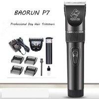 Professional Cat Dog Hair Trimmer BaoRun P7 Electric Pet Hair Clipper Remover Cutter Grooming Pets Haircut Machine 110V 240V