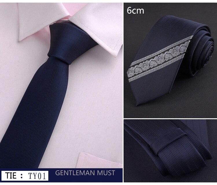 Nueva moda de 6cm posición Slim corbata vino rojo sólido rayas flaco corbata para los hombres de negocios boda Casual bordado corbatas