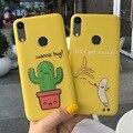 Забавный мультяшный чехол для телефона С КАКТУСОМ для Huawei Honor 8A, чехол 6,09 дюйма, карамельные цвета, мягкий силиконовый чехол-бампер для Honor 8A