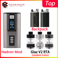 Steam Crave Hadron Bundle 220W Box Mod Powered by Dual 18650/21700 Batteries with Glaz V2 RTA &Hadron Squonk Backpack