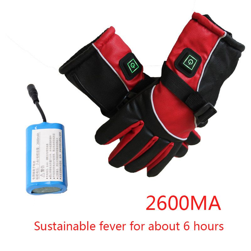 Winter Electric Gloves Usb Heating Gloves 4000mah Lithium Battery Switch Charging Outdoor Sports Winter Warmer Gloves