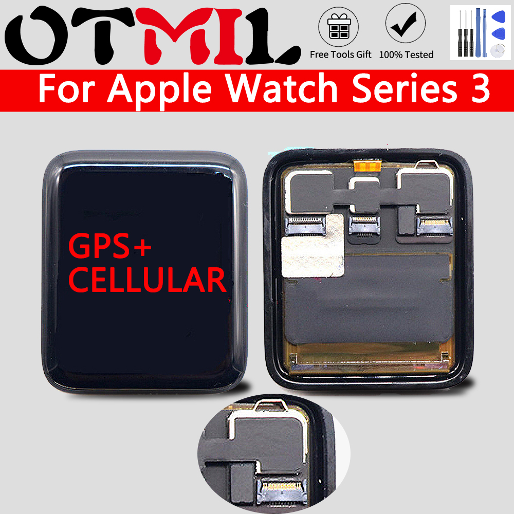 OTMIL For <font><b>Apple</b></font> <font><b>Series</b></font> <font><b>3</b></font> <font><b>Watch</b></font> <font><b>3</b></font> LCD Original <font><b>GPS</b></font>+Cellular Display Digitizer Assembly For iwatch <font><b>3</b></font> Series3 S3 38mm 42mm LCD image