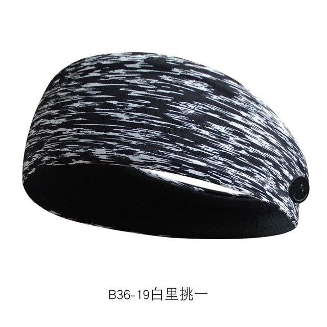Sweat-absorbent Yoga Headband Sports Sweat-absorbent Headband Men and Women Sports Anti-sweat Belt Yoga Headband Button Headband 4