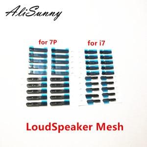 Image 2 - AliSunny 50Set LoudSpeaker + Mic  Mesh Adhesive Sticker for iPhone 6 6S 7 Plus Left + Right Mesh anti Dust Ear Screen Tap Glue