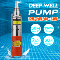 12V/24V/48V High Lift 80m Solar Submersible Water Pump High Pressure DC Pump Deep Well Pump Agricultural Irrigation Garden Home