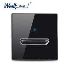 Wallpad 1 2 3 4 Gang interruttore a levetta a parete pulsante cromato dati CAT6 HDMI presa USB presa vetro nero angolo tondo L6 serie RC