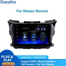 Android 10 0 Radio samochodowe GPS dla nissana Murano Z52 Multimedia 2015 do 2020 Stereo 2Din DSP HD IPS 1028*740 Carplay HDMI 4Gb + 64Gb tanie tanio dasaita Jeden Din 10 2 4*50W Other System operacyjny Android 10 0 Jpeg gps Radio GPS for Nissan Murano 1280*720 3 5kg Bluetooth