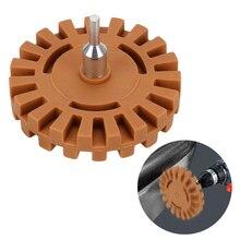 """LEEPEE de reparación de automóviles herramienta de pintura para coche pegamento pegatinas y calcomanías 1/4 """"mango de goma de la rueda de pulido calcomanía de rueda removedor"""